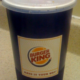 "The new 32oz ""medium"" - ""Have it your way."""