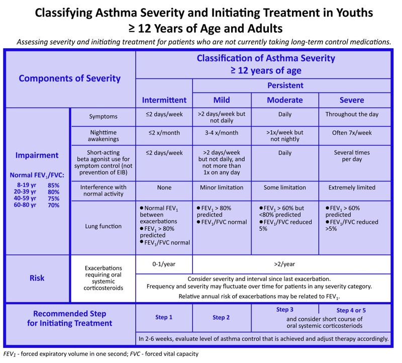 Asthma Severity and Initiating Treatment